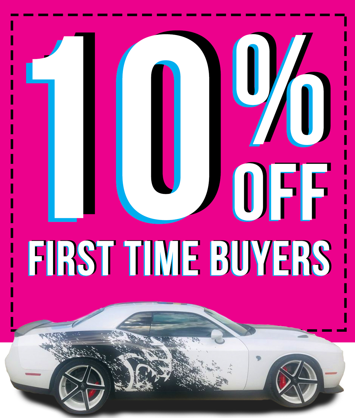 10% Off First Time Buyers Vehicle Wrap Green Mango Graphics