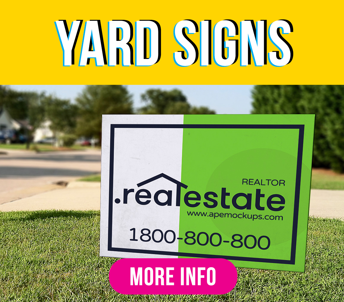 Yard Signs Green Mango Graphics