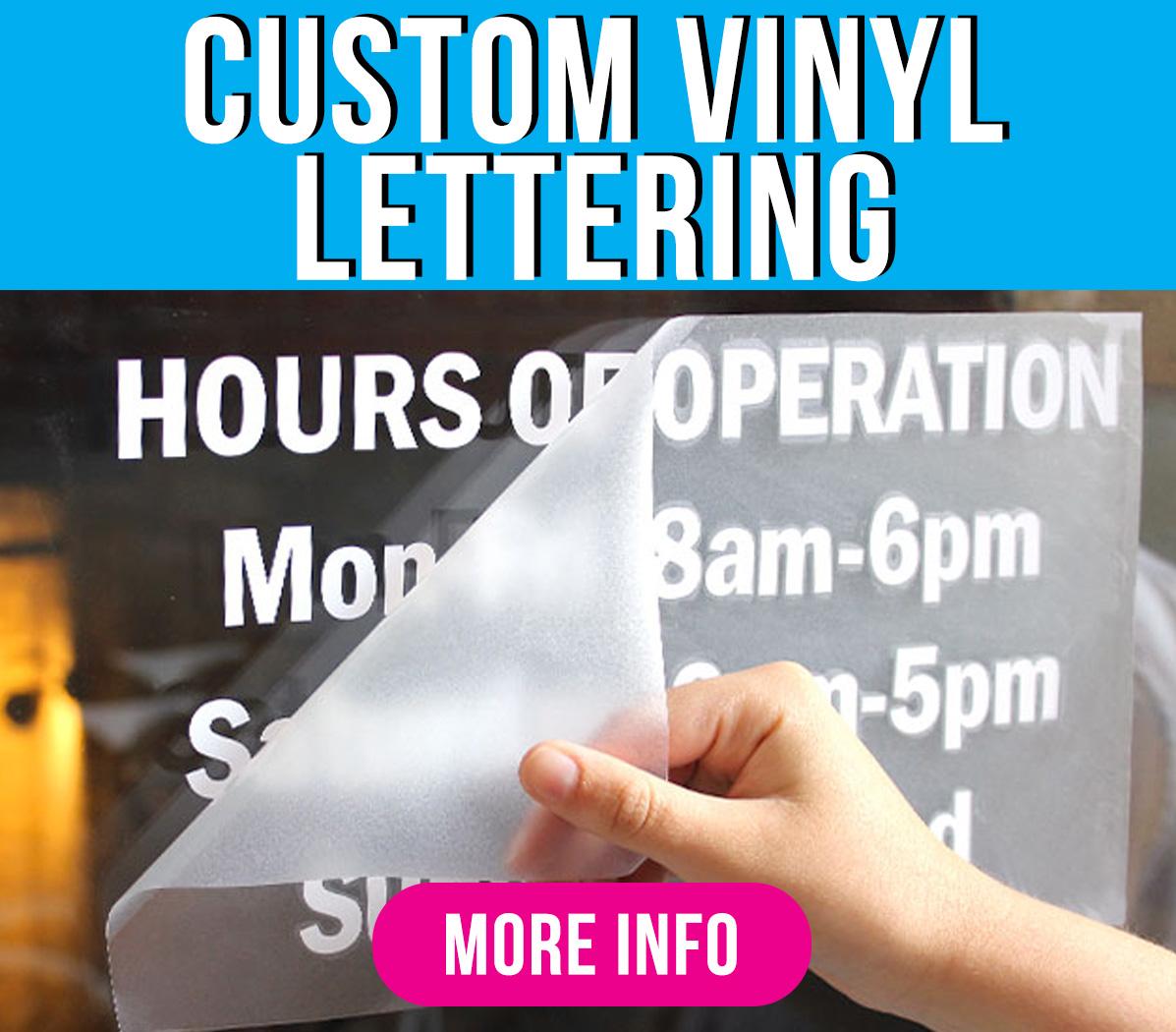 Custom Vinyl Lettering Green Mango Graphics