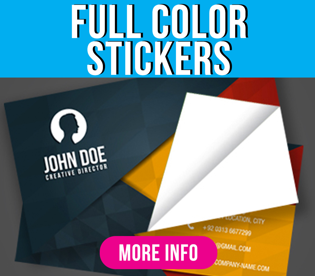 Full Color Stickers Green Mango Graphics